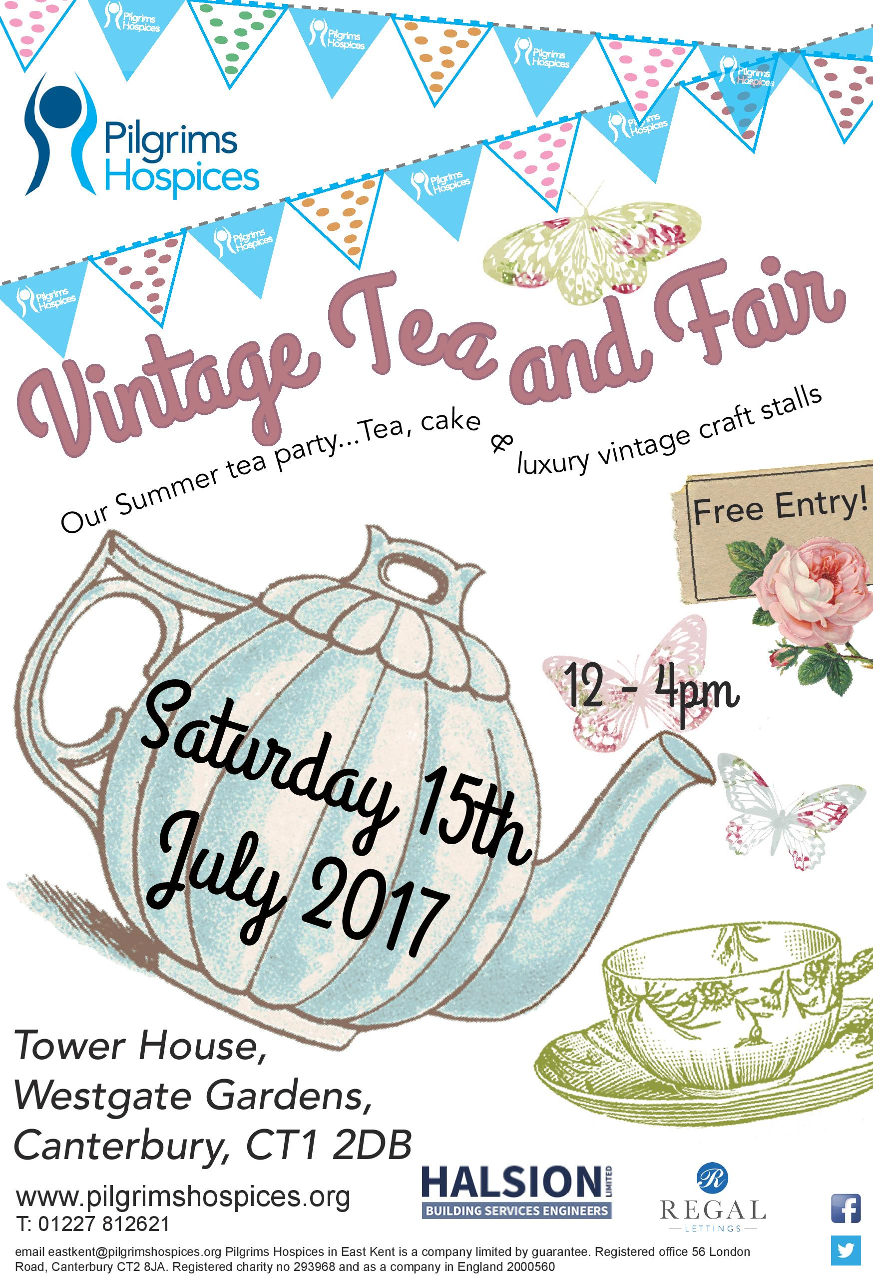 Our continued sponsor of the Pilgrims Hospice – Summer Vintage Tea Fair